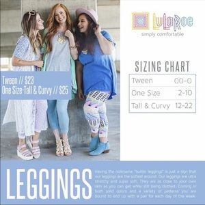 LuLaRoe Bottoms - LuLaRoe Tween Leggings